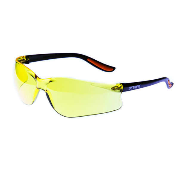 Merano, Amber Anti-Scratch Safety Eyewear | BETAFIT PPE Ltd