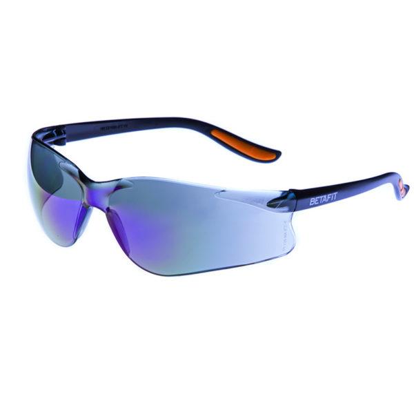 Merano, Blue Mirror Anti-Scratch Safety Eyewear | BETAFIT PPE Ltd